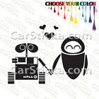 "1 of 5"" Wall-E And Eva /A car truck window stickers decals"