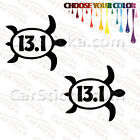"2 of 5"" 13.1 Half Marathon Sea Turtle /A run car truck bumper stickers decals"
