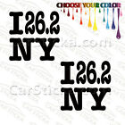 "2 of 5"" 26.2 New York City Marathon /A run car truck bumper stickers decals"
