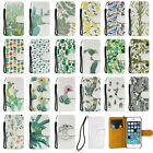 Tropical Cactus Pattern Folding Flip PU Leather Case For Iphone 6 6S 6Plus 5S SE