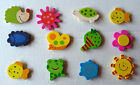 12 Cute Wooden Magnet Set Teacher supply NIB
