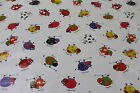 Multicoloured Childrens Cartoon Cows PVC Easy Wipe Clean Tablecloth 140cm Wide