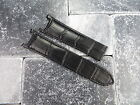 Leather Strap Black Watch Band Deployment Buckle CARTIER PASHA 18mm 20mm 21mm