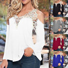 Plus Size S-5XL Summer Womens Loose Sexy Lace T-Shirt Blouse Ladies Tops Casual