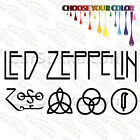 """2 of 8"""" to 20"""" Led Zeppelin Symbols /A artist car wall window stickers decals"""
