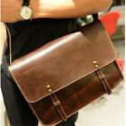 Men Vintage Leather Shoulder Bag Business Briefcase Messenger Handbag Casual New