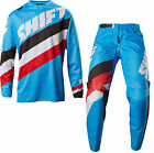2017 SHIFT WHITE LABEL TARMAC BLUE MENS ADULT RACE GEAR COMBO JERSEY PANTS MX