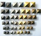 Square Prism Dome Rivets/Burr Set 5-12mm options Steel Plated Leather Bags Shoes