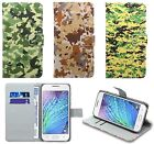 Samsung Leather Wallet Kickstand Camouflage Outdoor Bag Case Cover