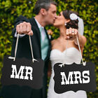 1Set Couple Chair Mr & Mrs Signs For Wedding Party Photo Props Banner Decoration