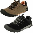 Ladies Clarks Outlay West Taupe Suede Lace Up Casual Trainer Shoes D Fitting