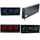 Big Digital LED Home Office Desk Calendar Temperature Date Wall Clock 110V 220V