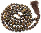 Tiger Eye Japa Mala Necklace with 108 beads + 1 larger guru bead
