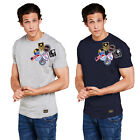 Brave Soul Scully Mens T Shirt Designer Assorted American Patches Cotton Tee Top