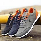 New Fashion Mens Recreational Sneakers Leather Casual Breathable Running Shoes