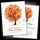 Autumn Wedding Day or Evening Reception Invites Invitations Stylish Personalised