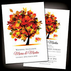 Personalised Autumn Wedding Evening Reception or Day Invitations Invites Stylish