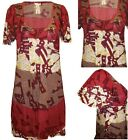 Next Red Print Dress Long Tunic Top Blouse Cover Up Summer Print Sizes 6 to 18