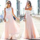 Women Sexy Summer Dress Maxi Long Evening Party Beach Dress Sundress Size 6-18