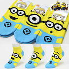 Women Socks Big Kids Fashion Cute Cartoon Minion Character Socks Made In Korea