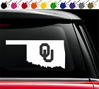 Oklahoma Sooners OU State Pride Decal Vinyl Car Truck Window Sticker University