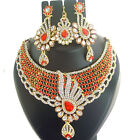 Indian Jewelry Ethnic Bridal Necklace Bollywood Gold Traditional Fashion Set