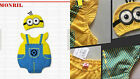 Minion Despicable Me Baby Boy Girl Animal Costume Photo Hat Beanie Pants