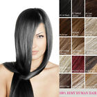 Full Head Clip In 100% Natural Remy Human Hair Extensions 100g 140g 160g Thicker