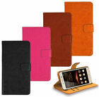 Samsung Galaxy Phone Genuine Leather Wallet Kickstand Bag Case Cover