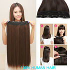 """Premium Thick One Piece Hair Extensions Clip In 100% Remy Real Human Hair 16 """""""