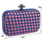 100% New handmade Lady's knitted Knot Clutch Evening Bag Women Evening Cluthes