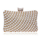 Handmade Beaded Pearl Evening Bag Clutch Crystal Purse Cocktail Party Wedding