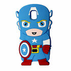 Cute 3D Cartoon Super Hero Silicone Soft Case Cover For Samsung Galaxy Phones