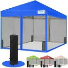 Quictent 10x10 Pop Up Canopy with Netting Screen House Mesh Sidewall -3 Colors