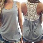 Fashion Women Loose Lace Vest Sleeveless Casual Blouse Shirt Tank Tops T-shirt