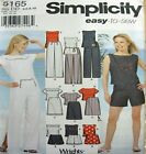 Simplicity Sewing Pattern 5165 Ladies High Waist Nautical Shorts Pants Top 4-10