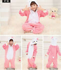 Kids Unisex Pajamas Kigurumi Animal Costume Sleepwear Jumpsuit Outfit Playsuits