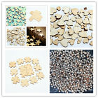50Pcs Jigsaw Puzzle Pieces Wooden Craft Decor Adorn Making Scrapbooking DIY