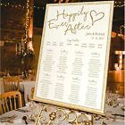 Personalised Wedding Table Seating Plan-HAPPILY EVER AFTER-4 SIZES AVAILABLE
