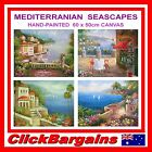 HAND PAINTED WALL ART DECOR OIL PAINTING CANVAS 60 x 50cm MEDITERRANIAN SEASCAPE