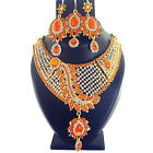 Indian Jewelry Ethnic Bridal Necklace Bollywood Traditional New Gold Fashion Set