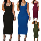 Women Summer Bandage Bodycon Evening Party Cocktail Maxi Long Sleeveless Dress