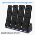 For Nintendo Wii Remote Charger Charging Dock Station + Recharge Battery Packs
