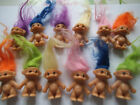 Cute MINI TROLLS asstd colour hair Great Party bag Filler