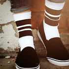 Oldschoolsocks by Spirit of 76 | the black Blacks on white Lo | Crew Socken