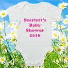 Personalised Custom Baby Shower Bodysuit Baby Vest Cute Gift Funny ALL SIZES #48