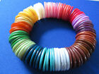 25 MOTHER OF PEARL Dyed Charm BEADS Counters Disc ~ Jewellery Making RAINBOW MIX