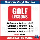 GOLF LESSONS - CUSTOM VINYL BANNER SIGN - Australian Made