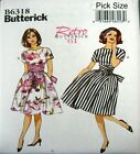 Butterick Sewing Pattern 6318 Retro 60s Ladies Full Rockabilly Dress Pick Size