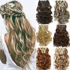 100% Thick For Human Full Head Clip In Hair Extensions Curly Straight Wavy Sale